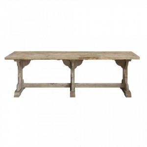 Masa dining maro din lemn de pin 75x245 cm Bierna Bloomingville