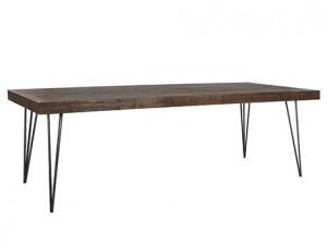 Masa dining maro/neagra din lemn si metal 100x240 cm Barclay Richmond Interiors