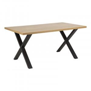 Masa dining maro/neagra din melamina si metal 90x160 cm Wales Alero Actona Company