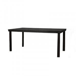 Masa dining maro/neagra din placaj marin si metal 95x180 cm Nathan Lifestyle Home Collection