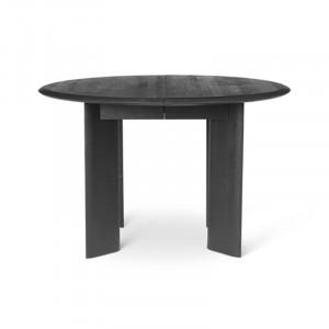 Masa dining neagra din lemn 117 cm Bevel Ferm Living