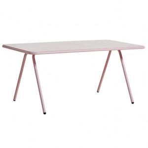Masa dining pentru exterior roz din aluminiu 85x160 cm Ray Woud