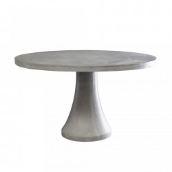 Masa dining rotunda din ciment 130 cm Mesa Bloomingville