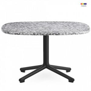 Masa neagra/gri din aluminiu si granit 67,5x66 cm pentru cafea Era Black Normann Copenhagen