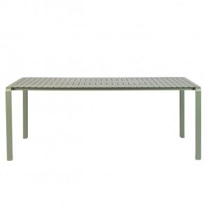 Masa verde din aluminiu pentru exterior 97x214 cm Vondel Zuiver