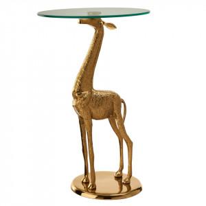 Masuta aurie din aluminiu si sticla 40 cm Giraffe Pols Potten