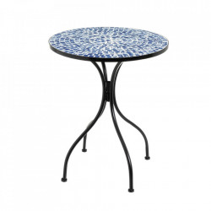 Masuta multicolora din ceramica si metal pentru exterior 60 cm Ocean Table Single Unimasa