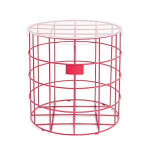Masuta rosie din sticla si fier 42 cm Cage Fight Bold Monkey