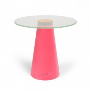 Masuta roz din rasina 60 cm Leader Of The Fan Club Pink Bold Monkey