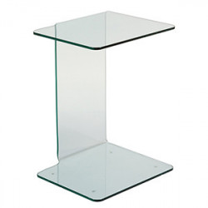 Masuta transparenta din sticla 40x45 cm Crystal Santiago Pons