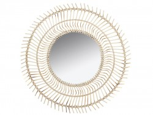 Oglinda din lemn de bambus 77 cm Rhonda Santiago Pons