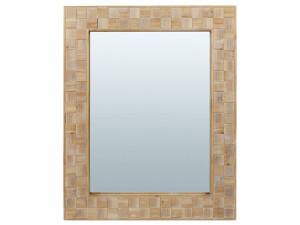 Oglinda din lemn de brad si MDF 82x102 cm Carre Santiago Pons