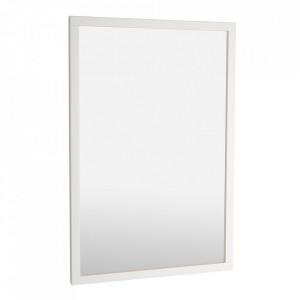 Oglinda dreptunghiulara alba din lemn de mesteacan si MDF 60x90 cm Confetti Rowico Home