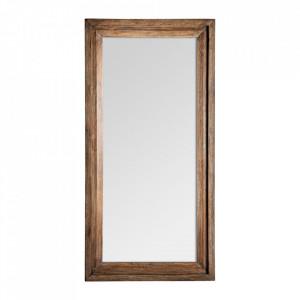 Oglinda dreptunghiulara maro din lemn 100x200 cm Eveline Vical Home
