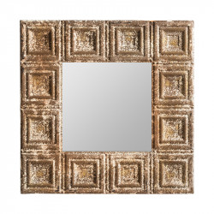 Oglinda patrata din MDF si fier 60x60 cm Milvignes Vical Home