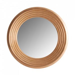 Oglinda rotunda aurie din rasina 120 cm Sion Vical Home