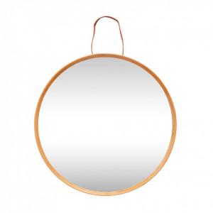 Oglinda rotunda cu rama din lemn 60 cm Frame Hubsch