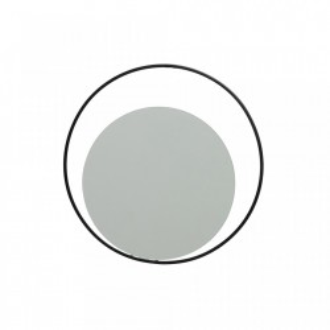 Oglinda rotunda cu rama neagra 30 cm Luella Woood