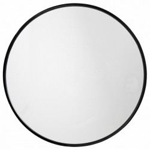 Oglinda rotunda cu rama neagra 80 cm Round Nordal