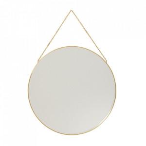 Oglinda rotunda din alama 40 cm Wilson Hubsch
