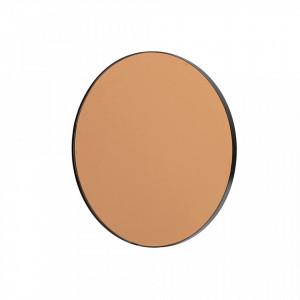 Oglinda rotunda neagra din fier 50 cm Drew Woood