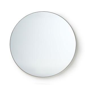 Oglinda rotunda neagra din fier si MDF 120 cm Christine HK Living