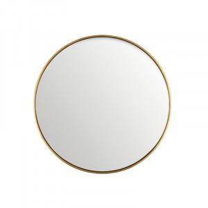 Oglinda rotunda neagra din MDF si sticla 60 cm Antique Gold Lifestyle Home Collection