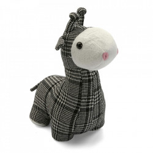 Opritor usa negru/alb din textil Llama Versa Home