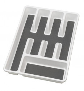 Organizator alb/gri din polipropilena si plastic pentru tacamuri Anti Slip Tray Wenko