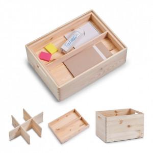 Organizator compartimentat din lemn de pin All Purpose Zeller