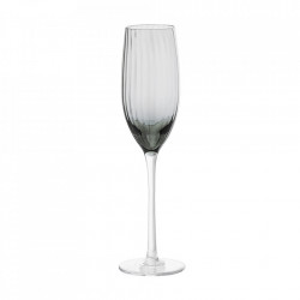 Pahar gri din sticla pentru sampanie 200 ml Astrid Bloomingville