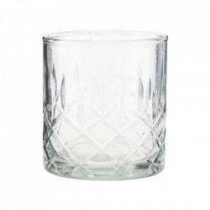 Pahar pentru whisky transparent din sticla 8x9 cm Vintage House Doctor