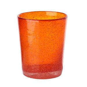 Pahar sticla Bubble portocaliu Pols Potten