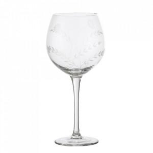 Pahar transparent din sticla pentru vin 500 ml Saga Bloomingville