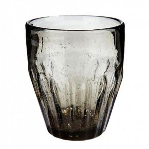 Pahar transparent gri din sticla 9x10 cm Ann Hubsch
