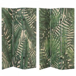 Paravan verde/crem din in 180 cm Eleven Leaves Savana Unimasa