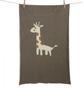 Patura din bumbac 100x160 cm Giraffe Quax