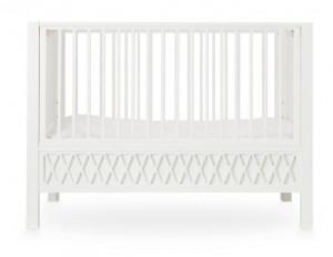 Patut alb din lemn si MDF 60x120 cm Harlequin White Cam Cam