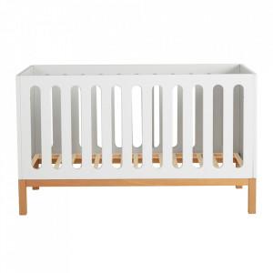Patut alb din MDF si lemn 75x144 cm Indigo Quax