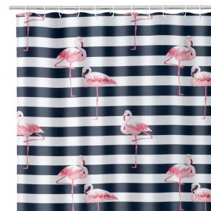Perdea dus multicolora din poliester 180x200 cm Flamingo Unimasa