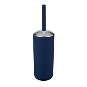 Perie albastru inchis/argintie din elastomer termoplastic pentru toaleta Saburo Wenko