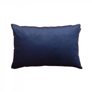 Perna decorativa albastra din catifea si poliester 40x60 cm Trina Blue Pols Potten