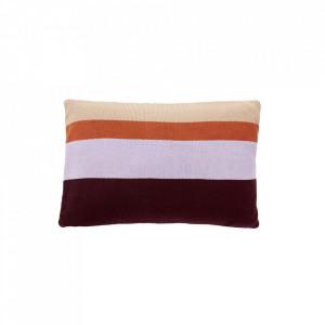 Perna decorativa dreptunghiulara multicolora din bumbac 40x60 cm Stich Hubsch