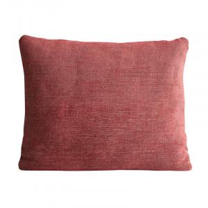 Perna decorativa dreptunghiulara rosie din textil 53x61 cm Canvas Woud