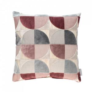 Perna decorativa multicolora din viscoza si alte fibre 45x45 cm Club Rose Zuiver