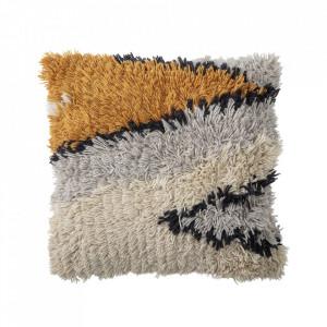 Perna decorativa multicolora patrata din lana si bumbac 60x60 cm Daris Bloomingville