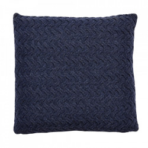 Perna decorativa patrata albastra din lana 50x50 cm Avi Hubsch