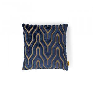 Perna decorativa patrata albastra din textil 45x45 cm I Feel So Soft Bold Monkey