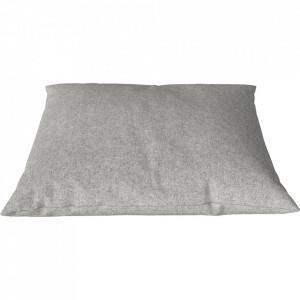 Perna decorativa patrata gri deschis din lana 60x60 cm Classic Qual Bolia