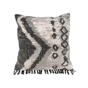 Perna decorativa patrata gri din bumbac 58x58 cm Gray Shades HK Living